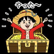 航海王×Naoko聯名貼圖