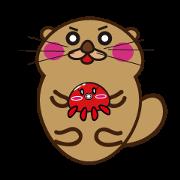 Sea otter Miharakko and fairy of Octopus
