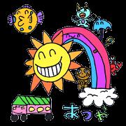 Unique but cute child drawn stickers!