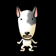 Insistent Bull terrier Dog Sticker(JP)