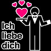 Greeting sticker/German