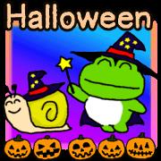 Frog's Halloween sticker..