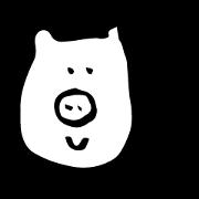 Pig at night