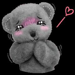 สติ๊กเกอร์ไลน์ หมีเทา