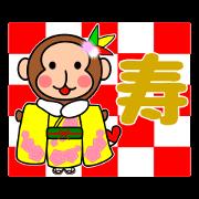 新年快樂!猴貼圖2016年