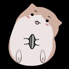 สติ๊กเกอร์ไลน์ Berurun Fluffy Hamster