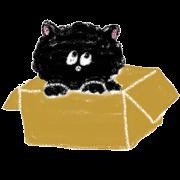 fluffy-blackkitty -crayon version-