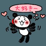 Hand-painted panda 5