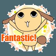 english version charming rabbit stickers