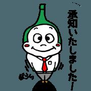 Plump Drinpin Stickers: Polite phrases