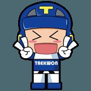TAEKWON ACTION FIGURE BLUE!!