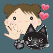 Chubby and cute, Nenemaru sticker