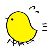 Ordinary stickers of chick
