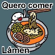 (葡萄牙語)這裡有你想吃的拉麵嗎?