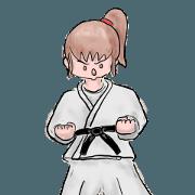 Karate girl stickers