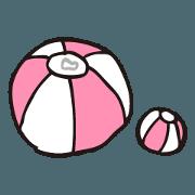 BEACH BALL Sticker (2)