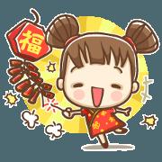中國娃娃賀雞年