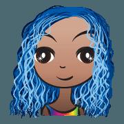 Blue hair Ava