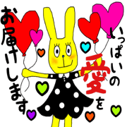 Colorful rabbit1