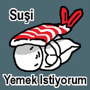 (土耳其語)這裡有你想吃的壽...