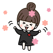 Cute! Moa's daily stickers