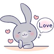 Lovey-dovey rabbit Gray rabbit ver 4