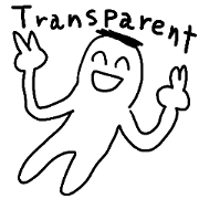 Transparent person