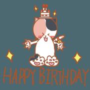 happy birthday cat sticker1