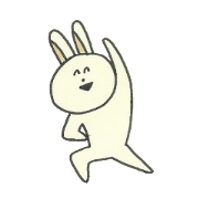 Rabbit of a smiling face
