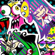 [HARAJUKU] Vivid color girls [KAWAII]