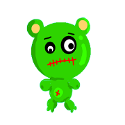 GreenScary bear
