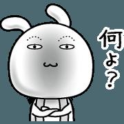 Rabbit of a natural face