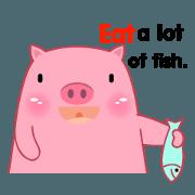 Fat Pig sticker(eng)