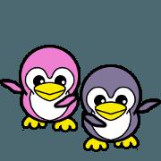 Penguin blue & Penguin pink