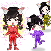 Harajuku system cute cat girl ale Brazil