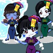 Yale Harajuku cute Jiang Shi girl Brazil