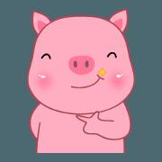Son Pink Pig sticker(eng)