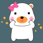 Little White Bear sticker(eng)