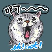 蛋頭的貓插畫貼圖1