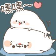 cute seal and Stinging tongue seal(tw)