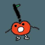 Funny tomato sticker