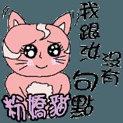 愛撒嬌的粉嬌貓