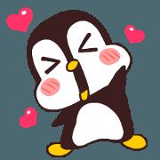 かわいい茶色のペンギン。ver.2