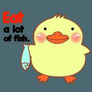 Little Duck sticker (eng)