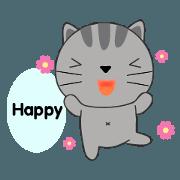 Little Cat sticker(eng)