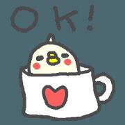 English pop sticker cute Bird!