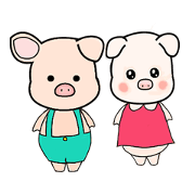 Baby pig Bung & Bong