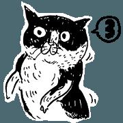 蛋頭的貓插畫線條版3