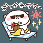 Summer sticker of Udakuma (pun.ver)
