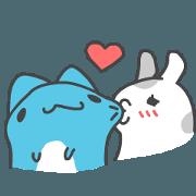 貓貓蟲咖波與兔兔-愛的吃吃